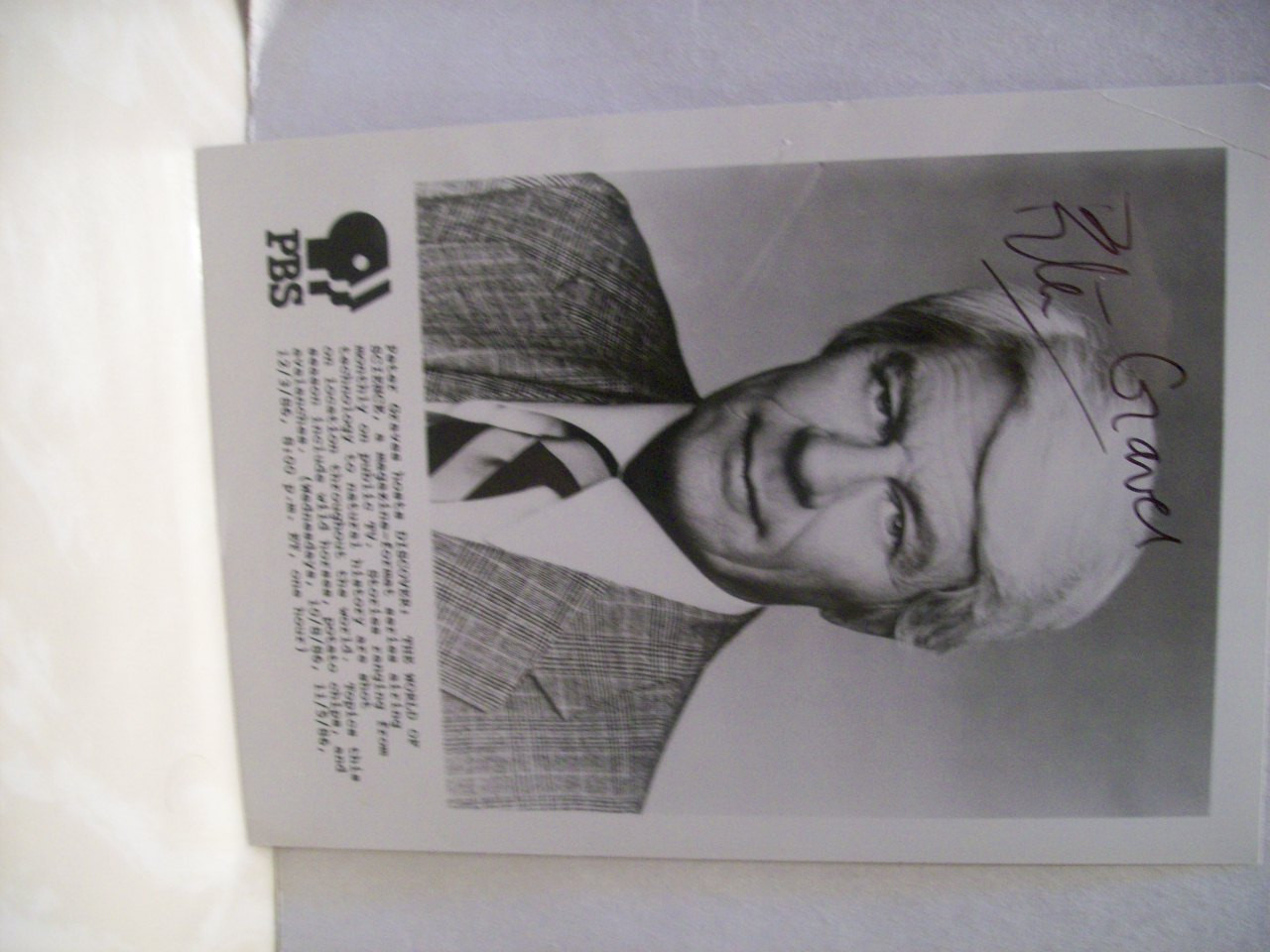 Graves, Peter Photo Signed Autograph Mission Impossible 1986