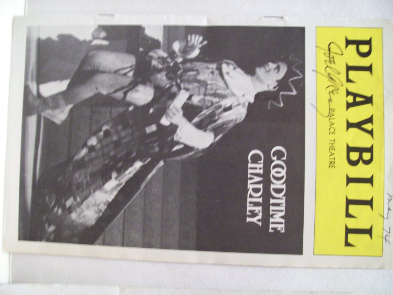 Grey, Joel Playbill Signed Autograph Goodtime Charley 1974