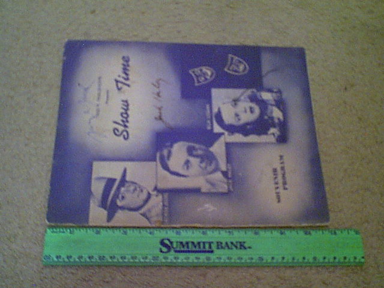 "Haley, Jack And George Jessel ""Show Time"" 1940'S Theatre Program Signed Autograph Photos"