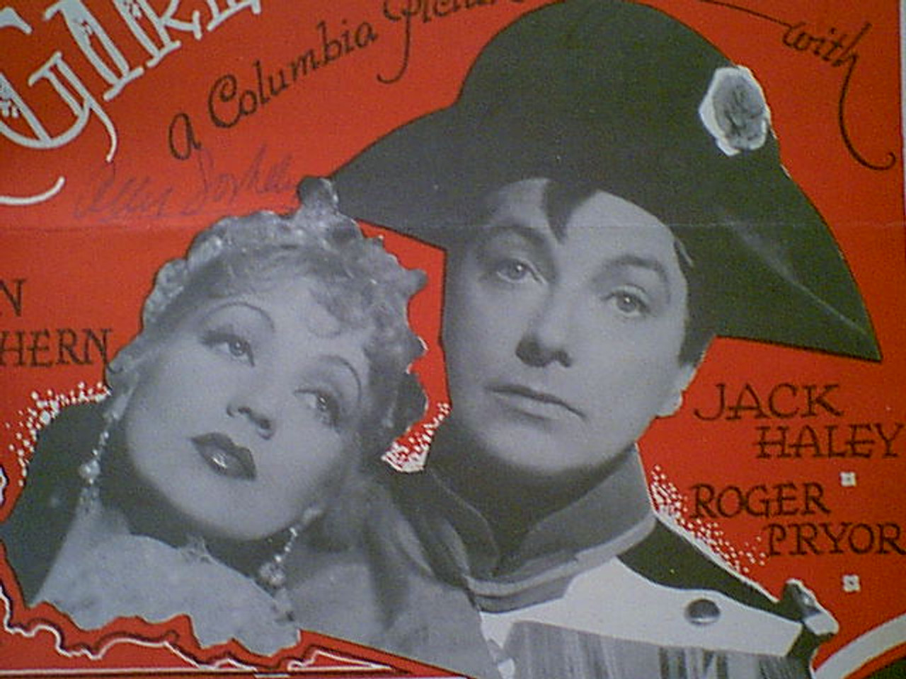 """Haley, Jack Ann Sothern """"The Girlfriend"""" 1935 Sheet Music Signed Autograph """"What Is This Power?"""" Photos"""