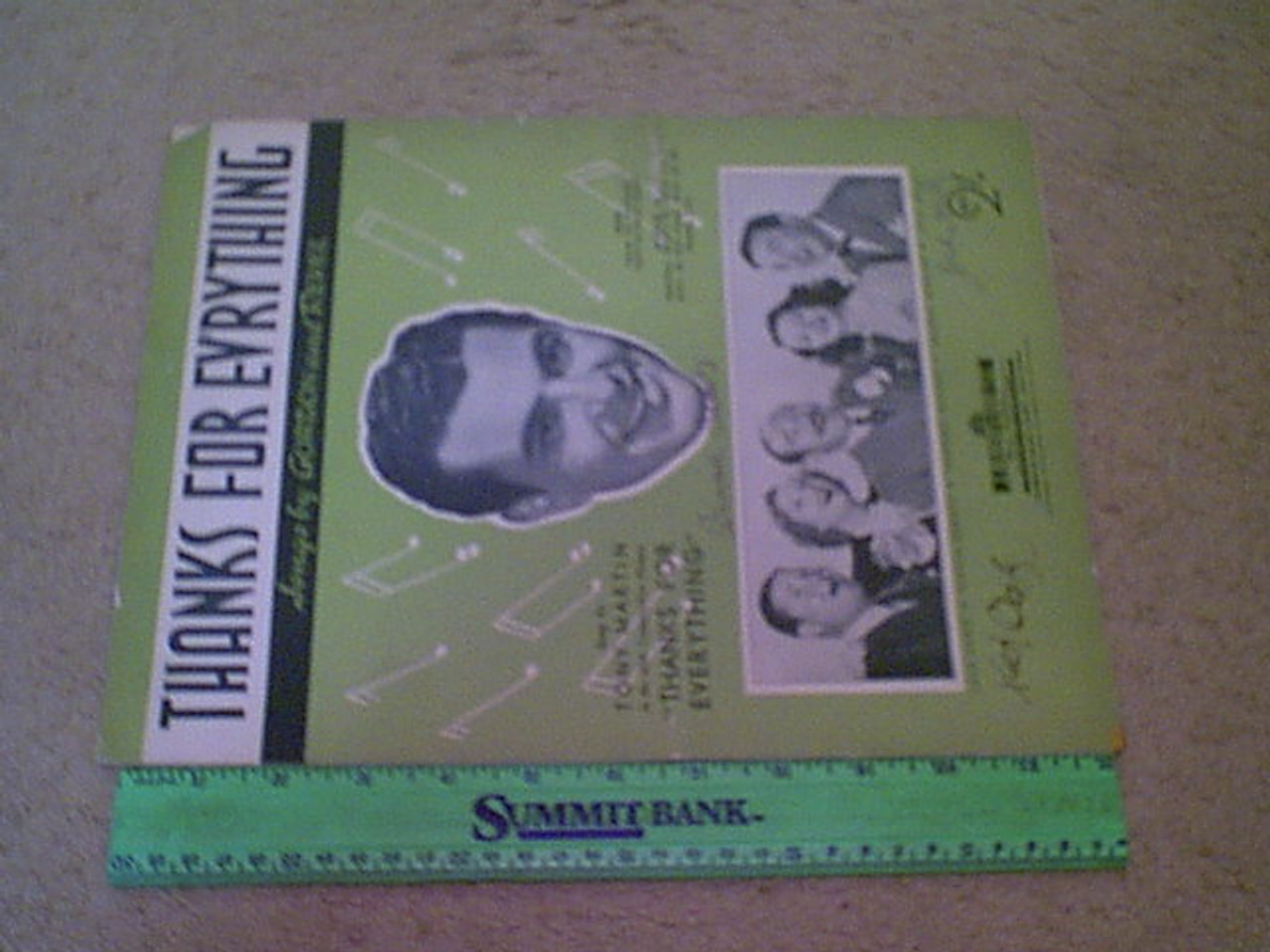 """Haley, Jack Jack Oakie Binnie Barnes 1938 Sheet Music """"Thanks For Everything"""" Signed Autograph Cover Photos"""