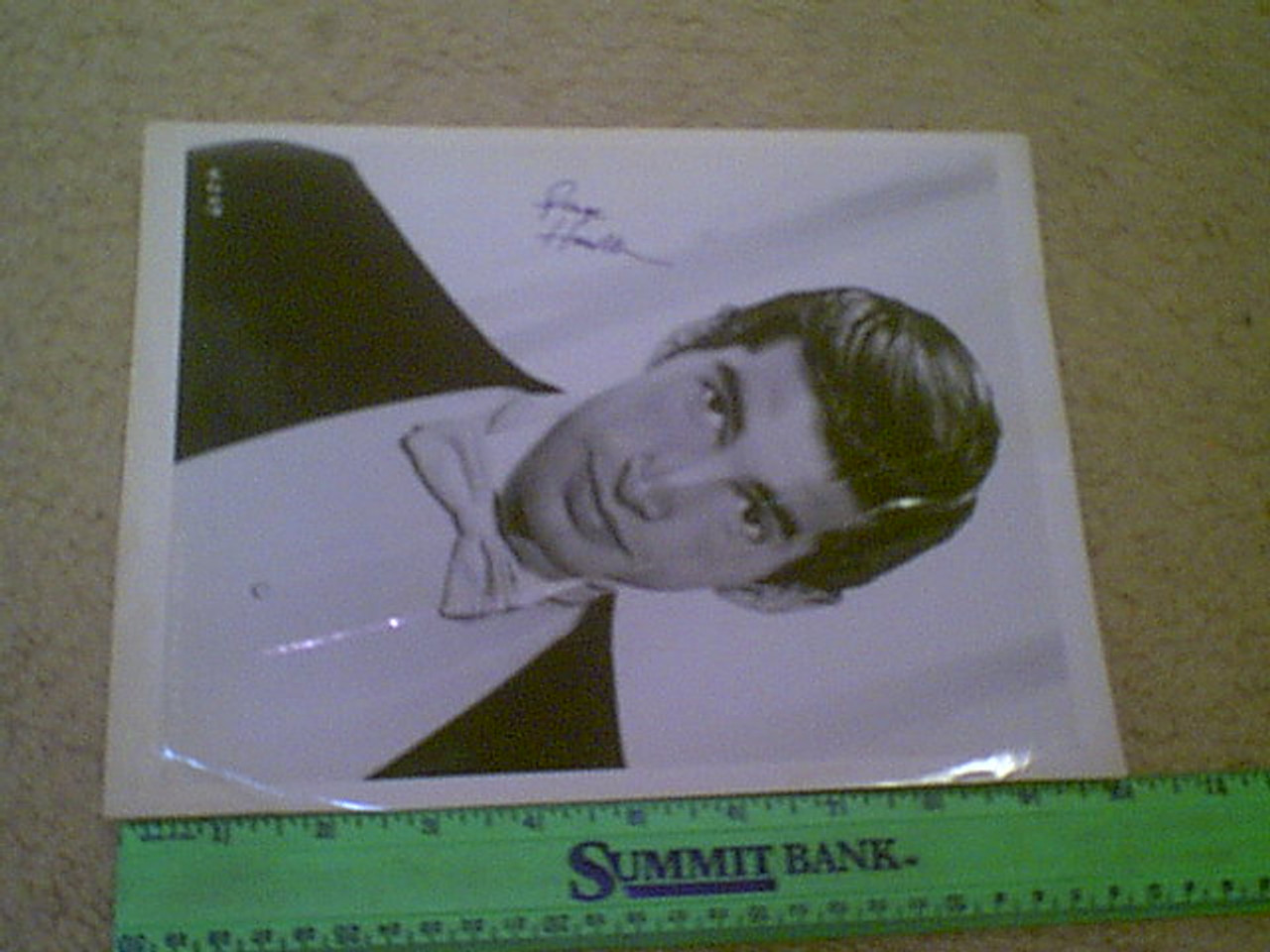 Hamilton, George Early Publicity Photo Signed Autograph