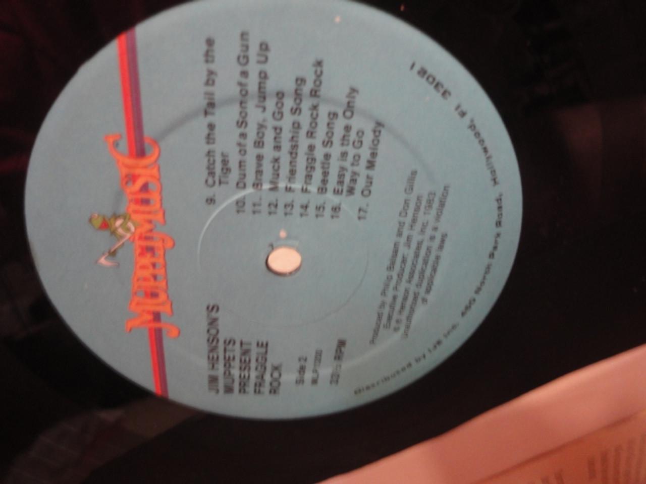 "Henson, Jim ""Fraggle Rock"" 1984 LP Signed Autograph Theme"