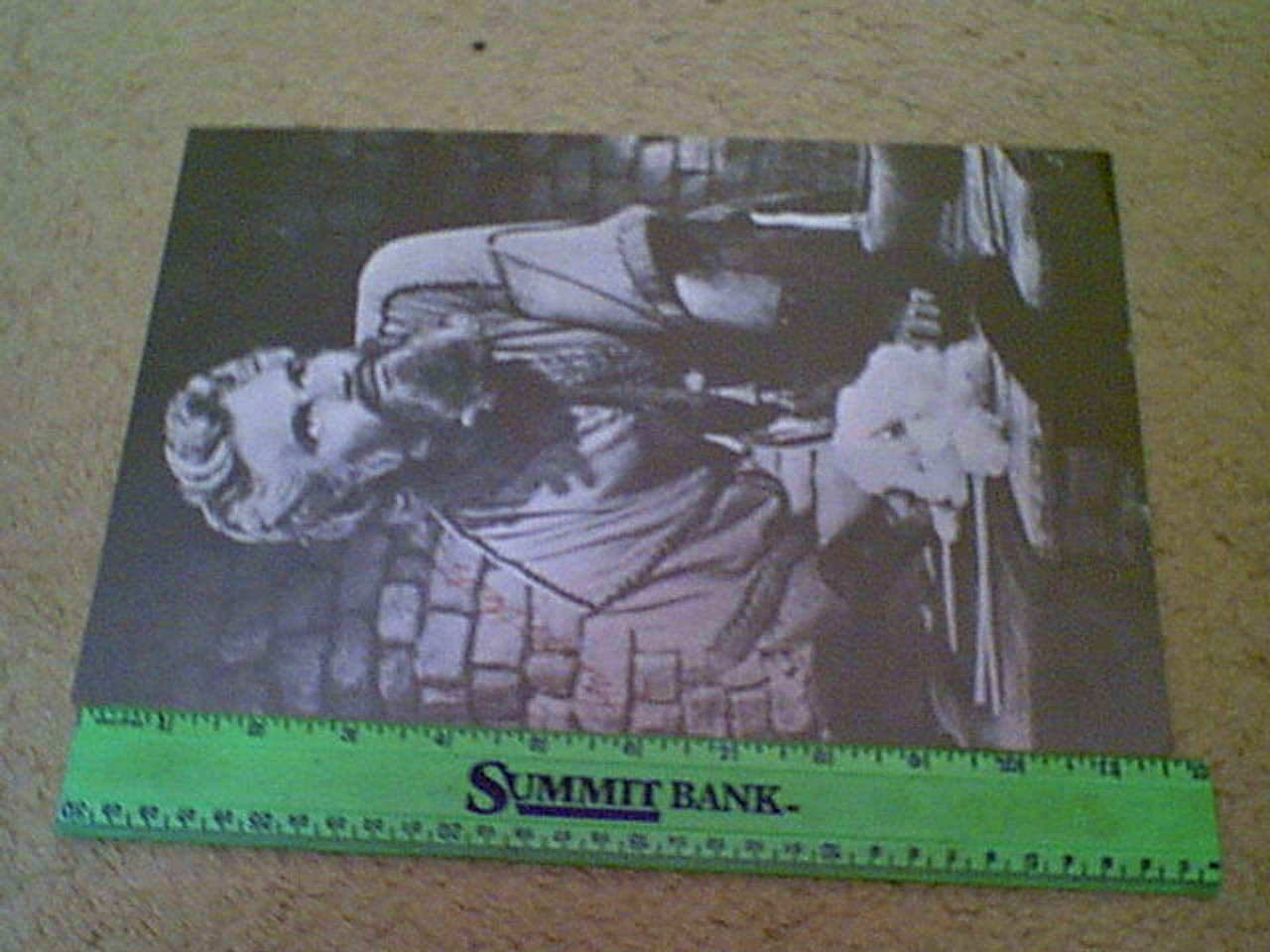 Heston, Charlton Early Photo Signed Autograph Movie Scene