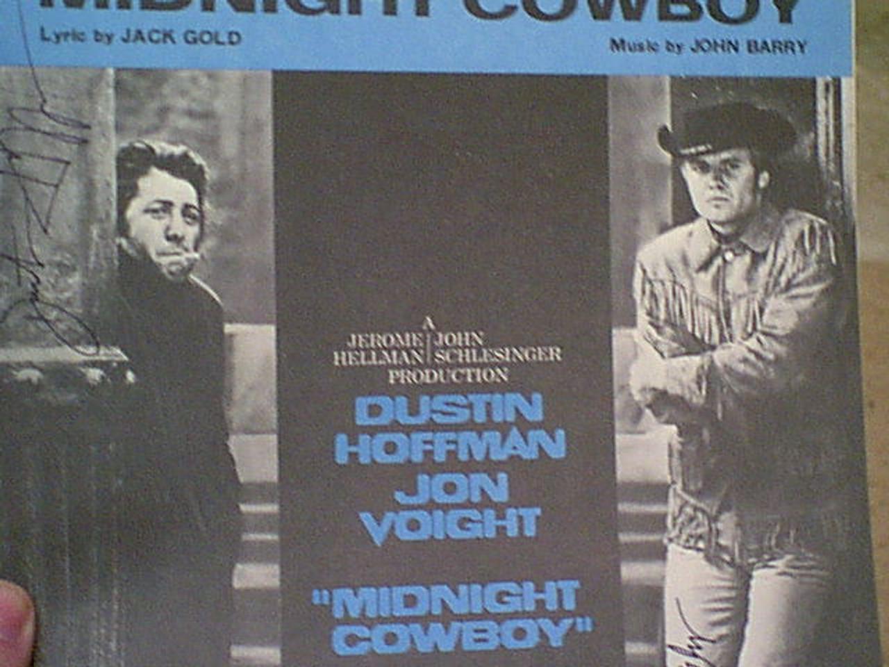 "Hoffman, Dustin And Jon Voight ""Midnight Cowboy"" 1969 Sheet Music Signed Autograph Theme Photos"