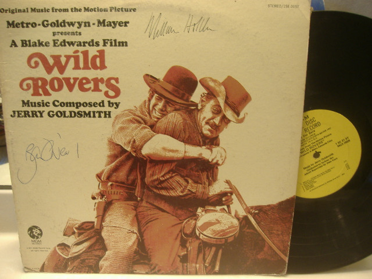Holden, William Ryan O Neal LP Signed Autograph Wild Rovers 1971