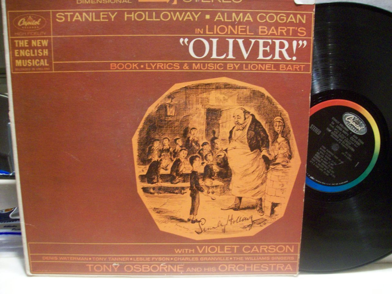 Holloway, Stanley LP Signed Autograph Oliver!