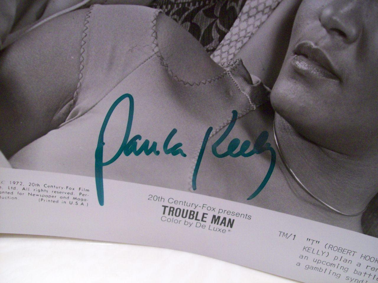 Hooks, Robert Paula Kelly Photo Signed Autograph Trouble Man 1972