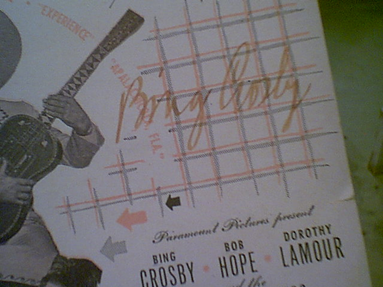 """Hope, Bob Dorothy Lamour Bing Crosby """"But Beautiful"""" 1947 Sheet Music Signed Autograph """"Road To Rio"""""""