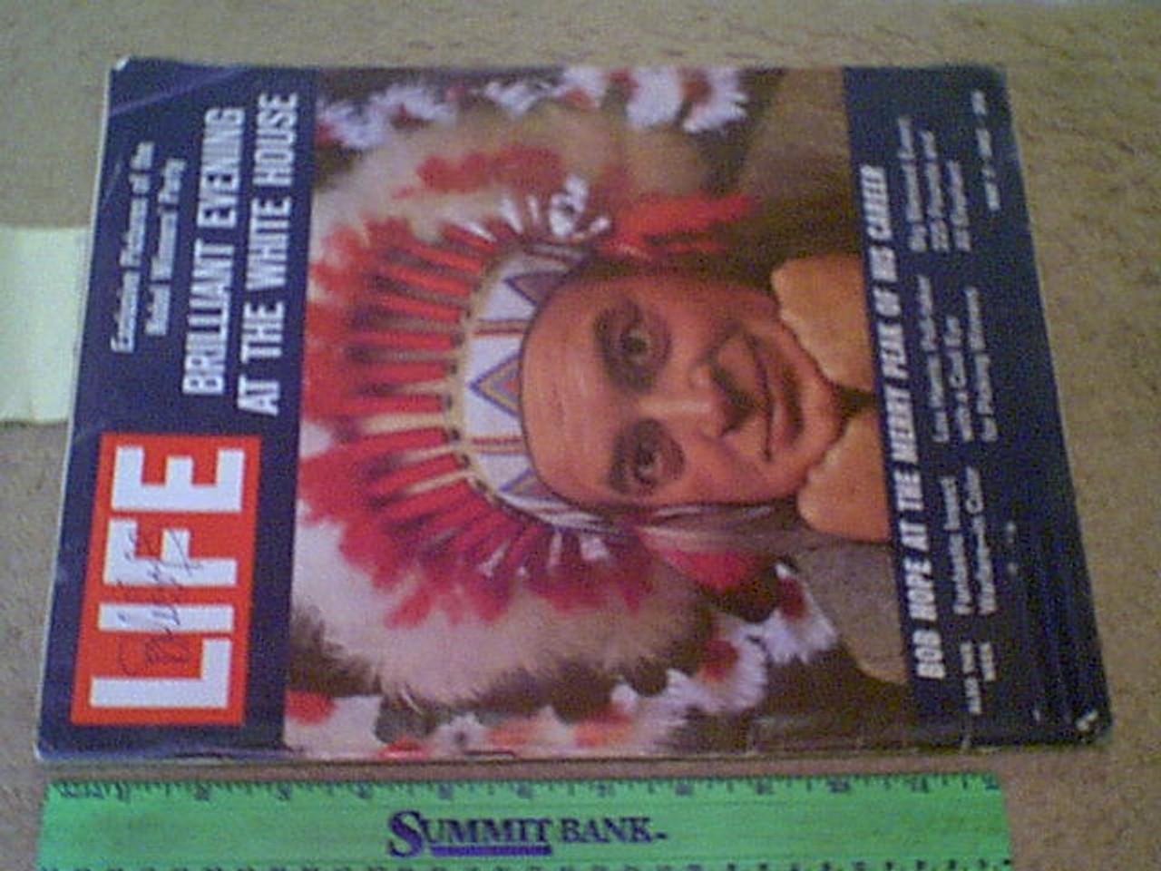 Hope, Bob Life Magazine 1962 Signed Autograph Color Cover Photo
