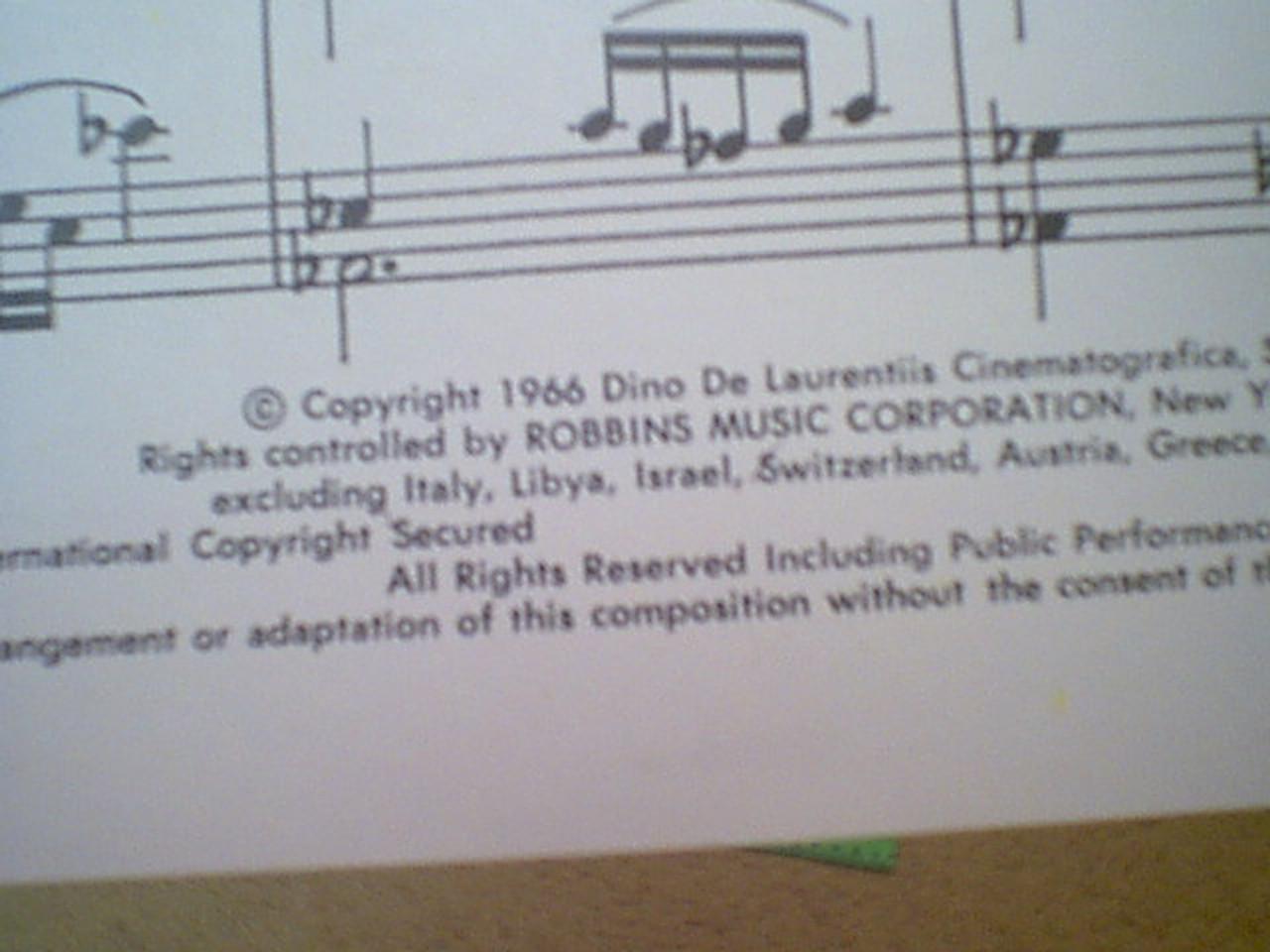 "Huston, John ""The Bible"" 1966 Sheet Music Signed Autograph Theme"