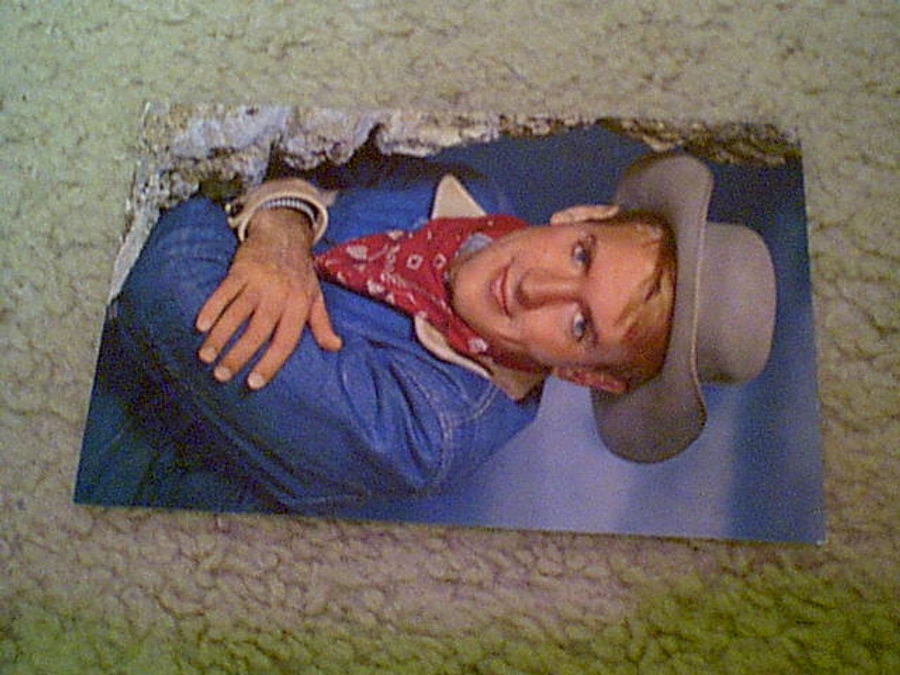 """Hutchins, Will 1960'S Color Fan Club Postcard Photo Signed Autograph """"Sugarfoot"""""""
