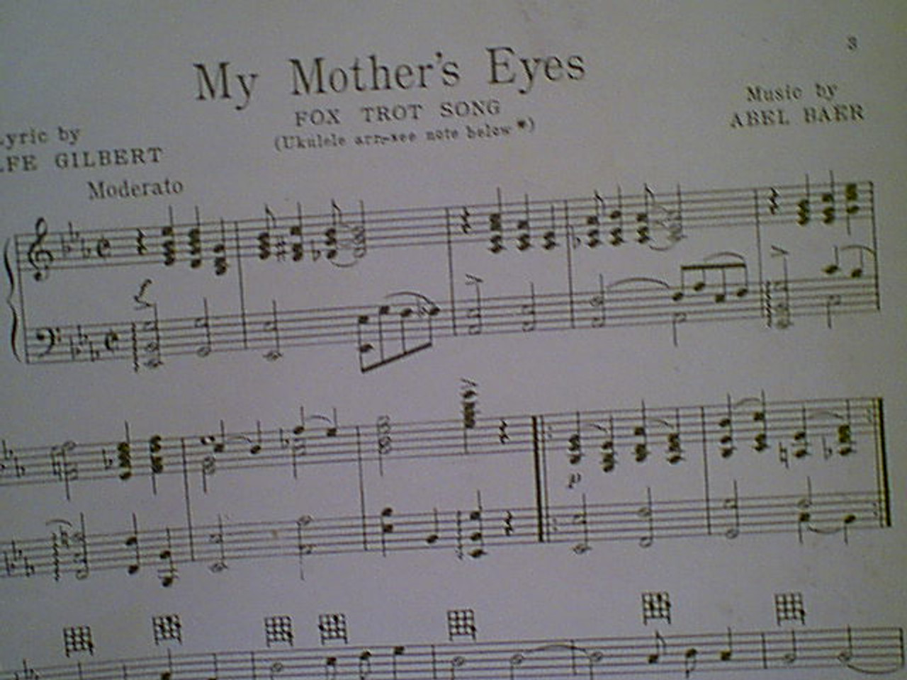 """Jessel, George & Eddie Cantor """"My Mother'S Eyes"""" 1928 Sheet Music Signed Autograph """"Lucky Boy"""""""