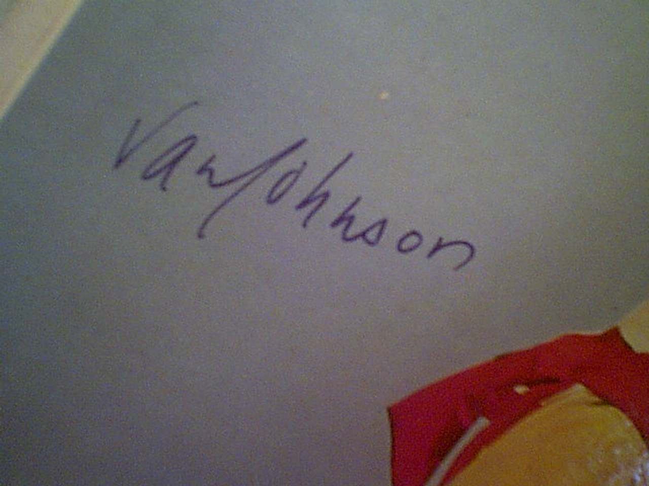 """Johnson, Van """"The Pied Piper Of Hamelin"""" 1957 LP Signed Autograph Cover Color Photo"""