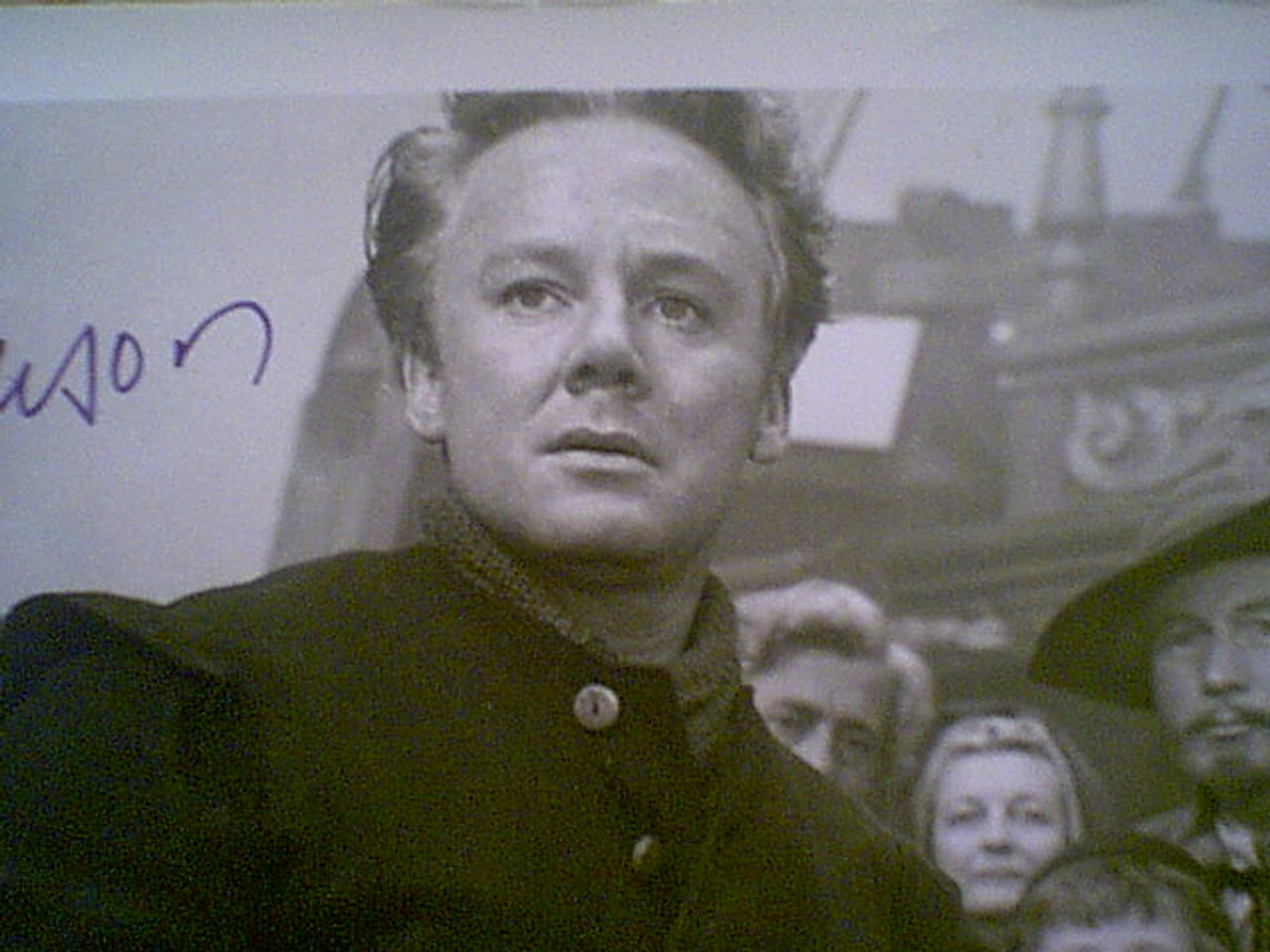 "Johnson, Van Photo ""Plymouth Adventure"" 1952 Signed Autograph Movie Scene"