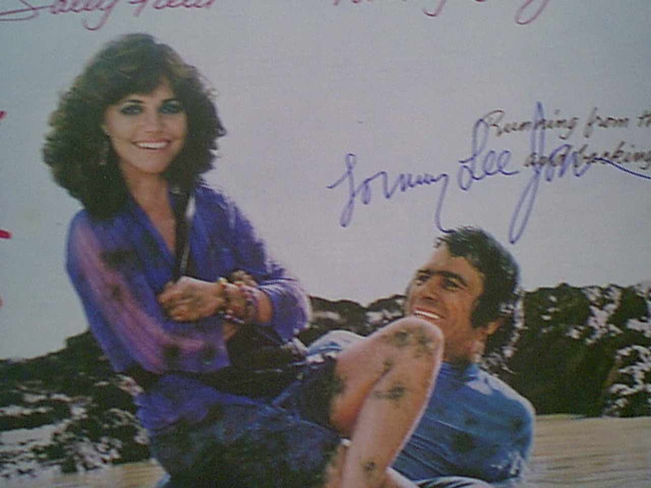 """Jones, Tommy Lee and Sally Field """"Back Roads"""" 1981 Sheet Music Signed Autograph """"Ask Me No Questions"""" Color Cover Photo"""