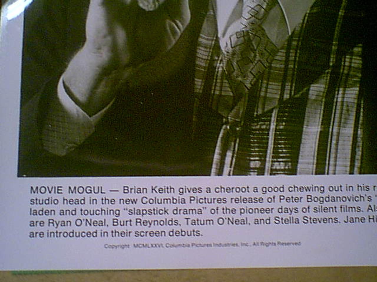 "Keith, Brian ""Nickelodeon"" 1976 Photo Signed Autograph Movie Scene"