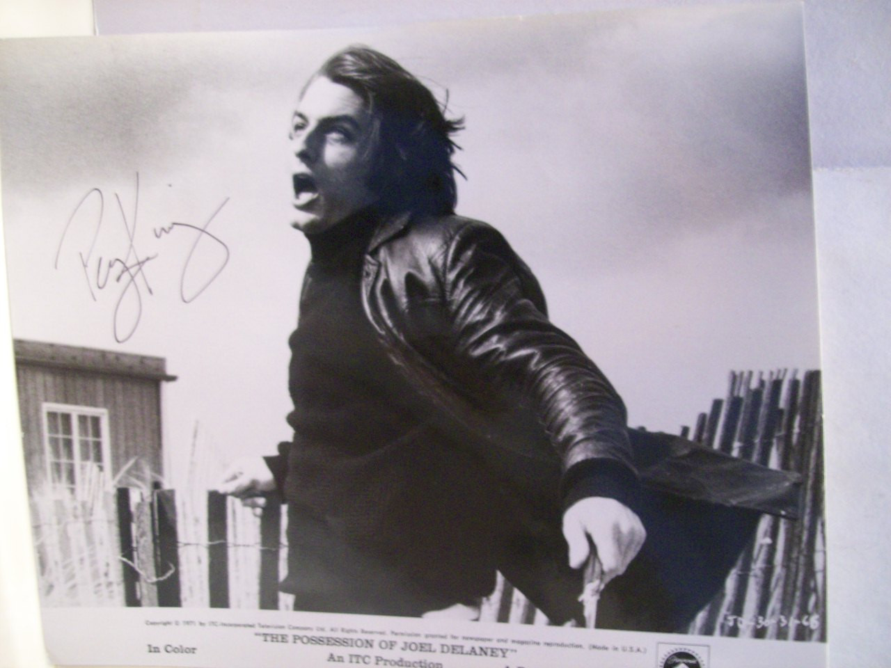 King, Perry Photo Signed Autograph The Possession Of Joel Delaney 1971