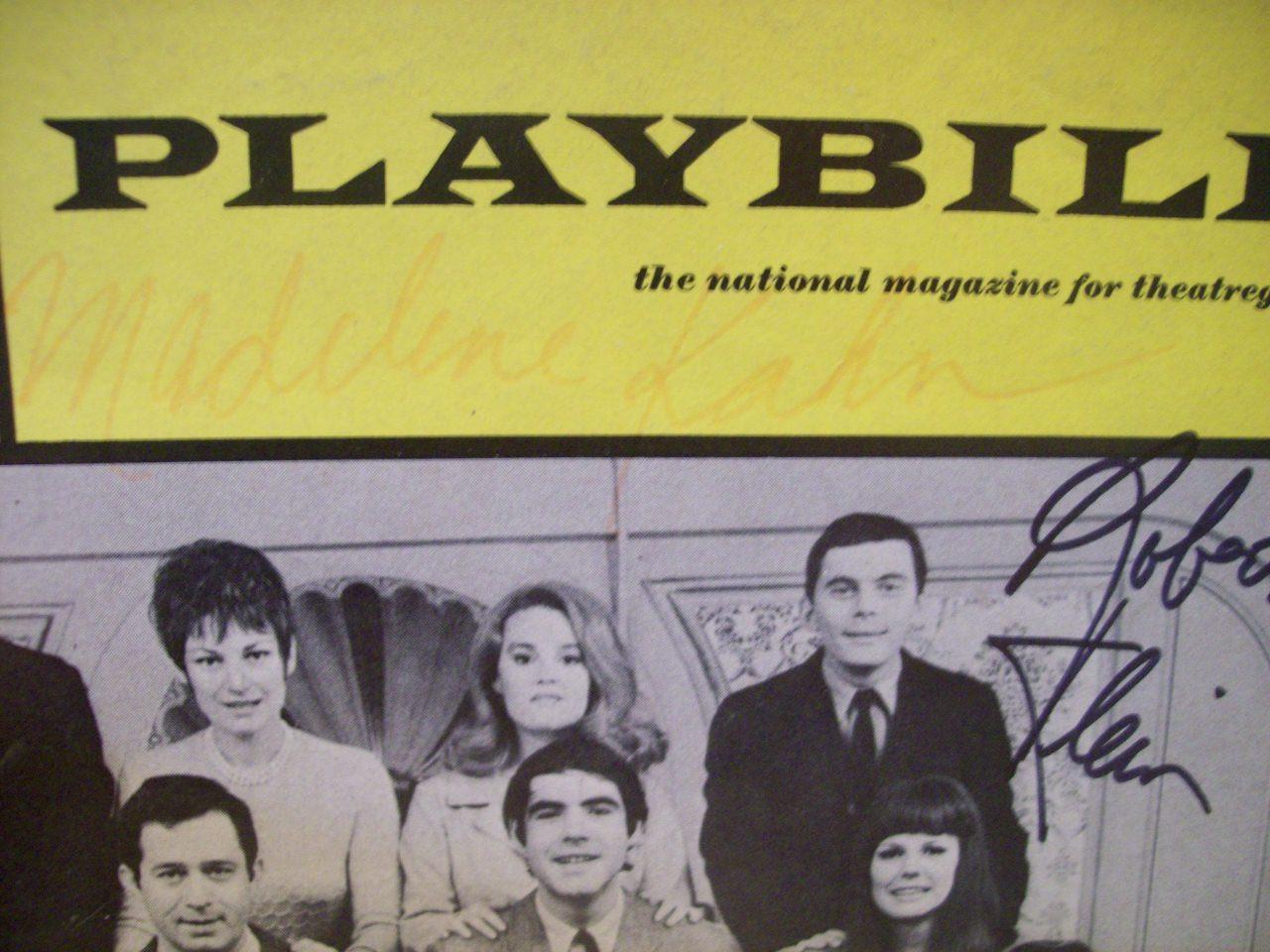 Klein, Robert Madeline Kahn Playbill Signed Autograph New Faces Of 1968