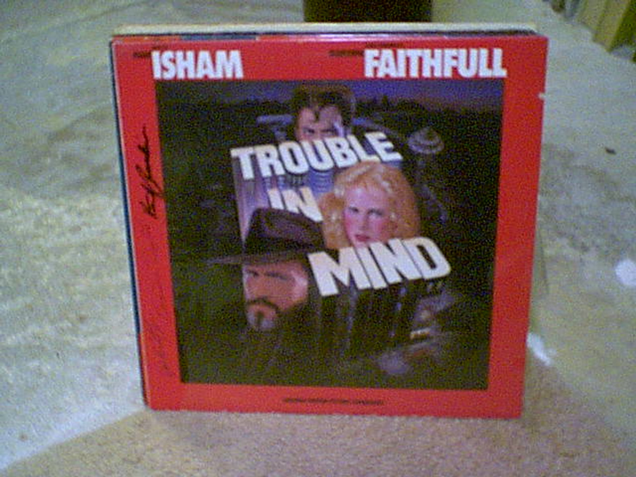 """Kristofferson, Kris Keith Carradine Genevieve Bujold """"Trouble In Mind"""" Sealed LP 1985 Signed Autograph Color Photos"""