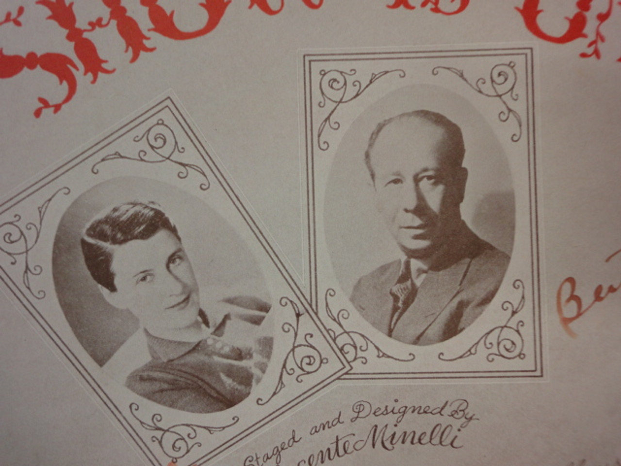 """Lahr, Bert and Beatrice Lillie """"Little Old Lady"""" 1936 Sheet Music Signed Autograph """"The Show Is On"""" Cover Photo"""
