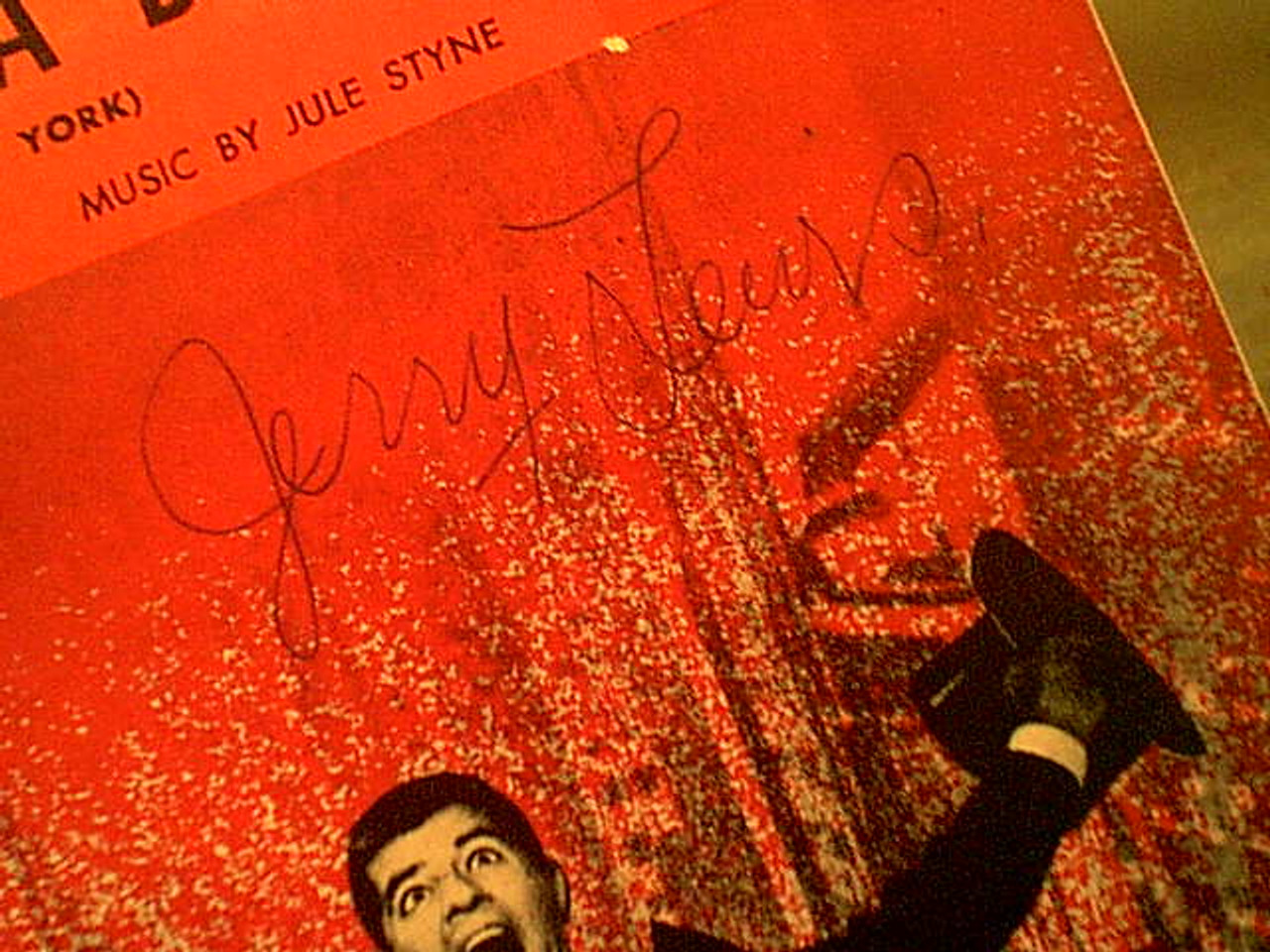 """Lewis, Jerry & Dean Martin """"Ev'Ry Street'S A Boulevard"""" 1953 Sheet Music Signed Autograph """"Living It Up"""" Cover Photos"""