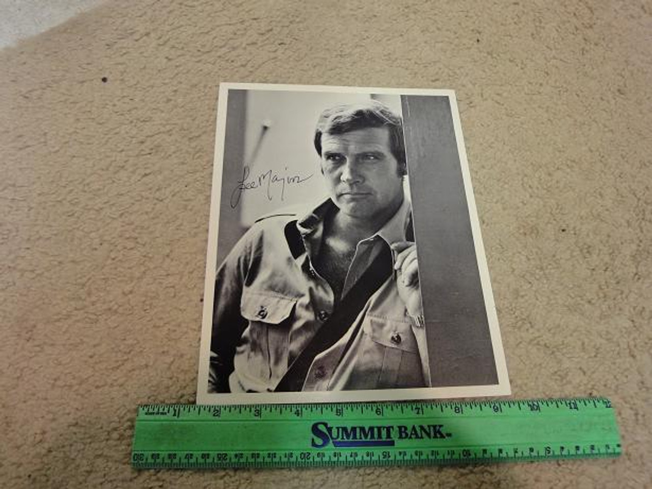 Majors, Lee Photo Signed Autograph