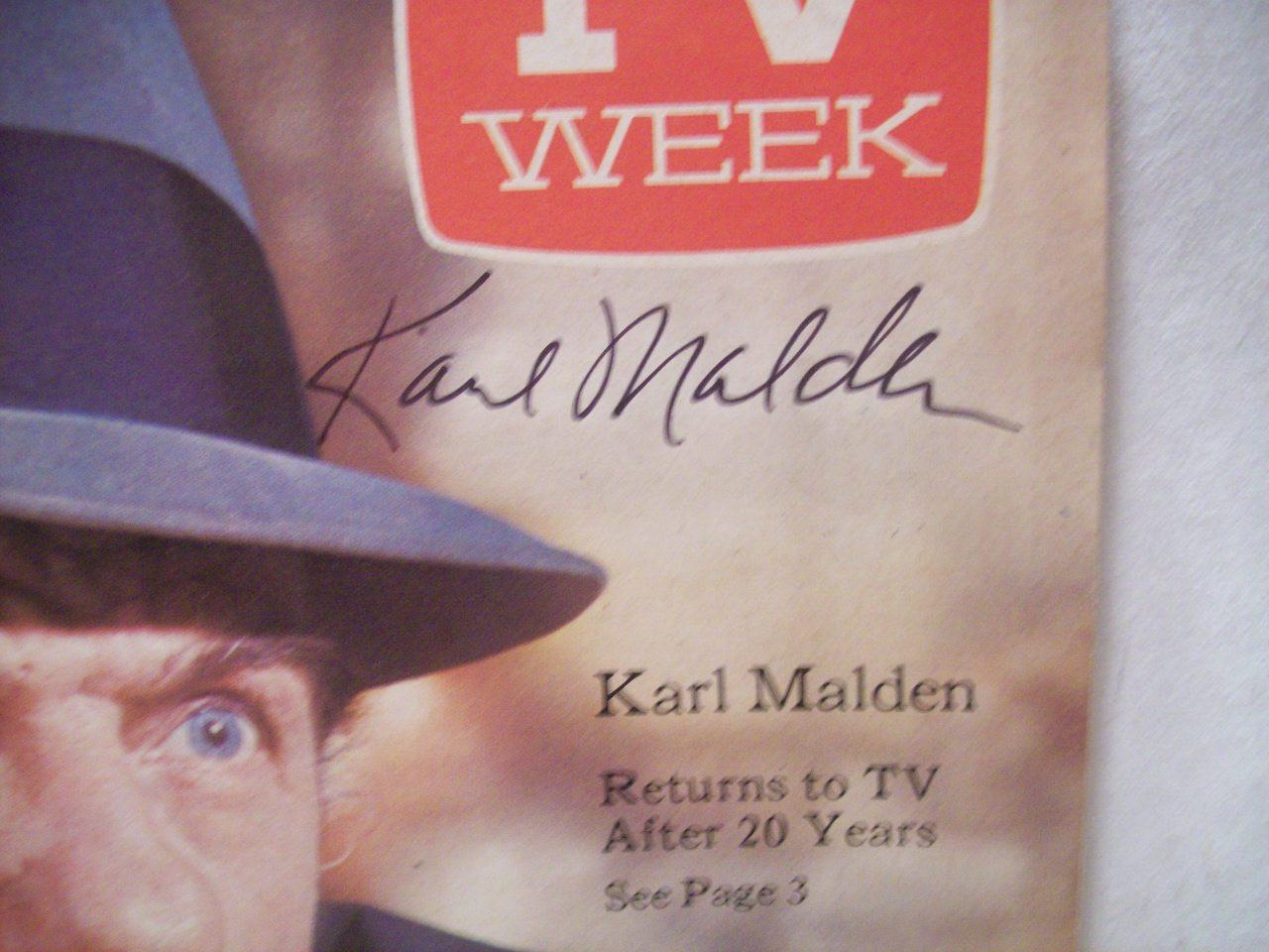 Malden, Karl Tv Week Signed Autograph Streets of San Francisco Sept 24 1972