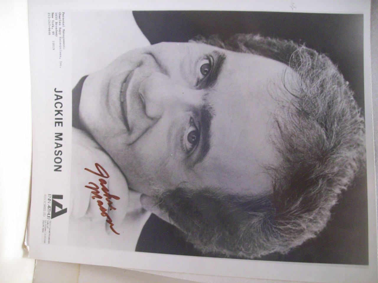 Mason, Jackie Photo Signed Autograph Black And White Stand Up Comic