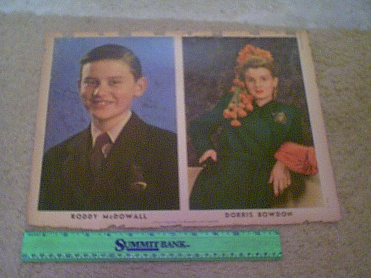 Mcdowall, Roddy Early Color Photo Signed Autograph 1943 Sunday News Magazine