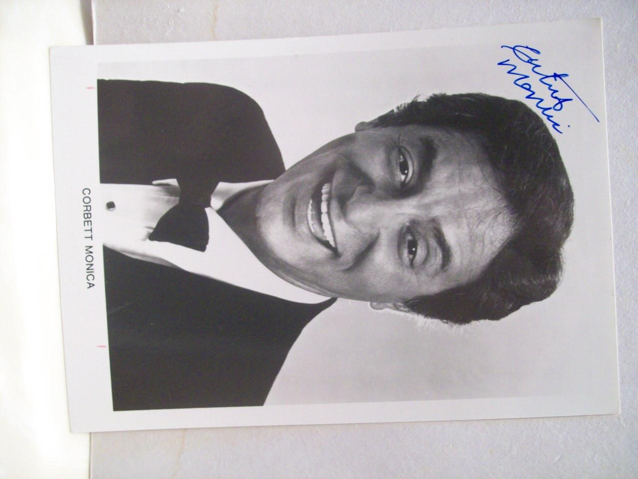 Monica, Corbett Photo Signed Autograph Black And White