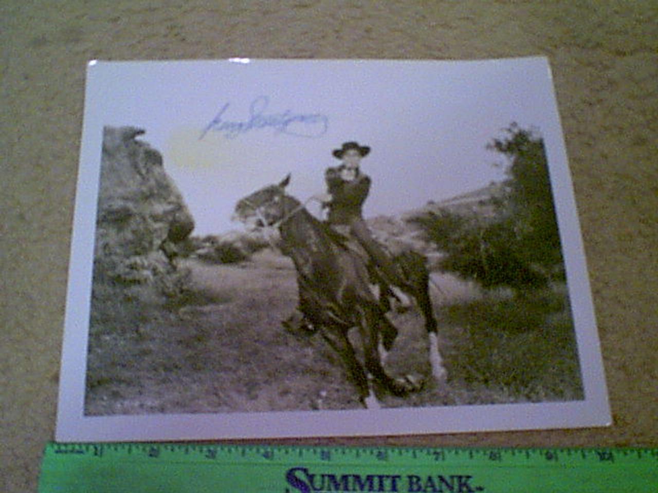 Montgomery, George Photo Signed Autograph Western Movie Scene