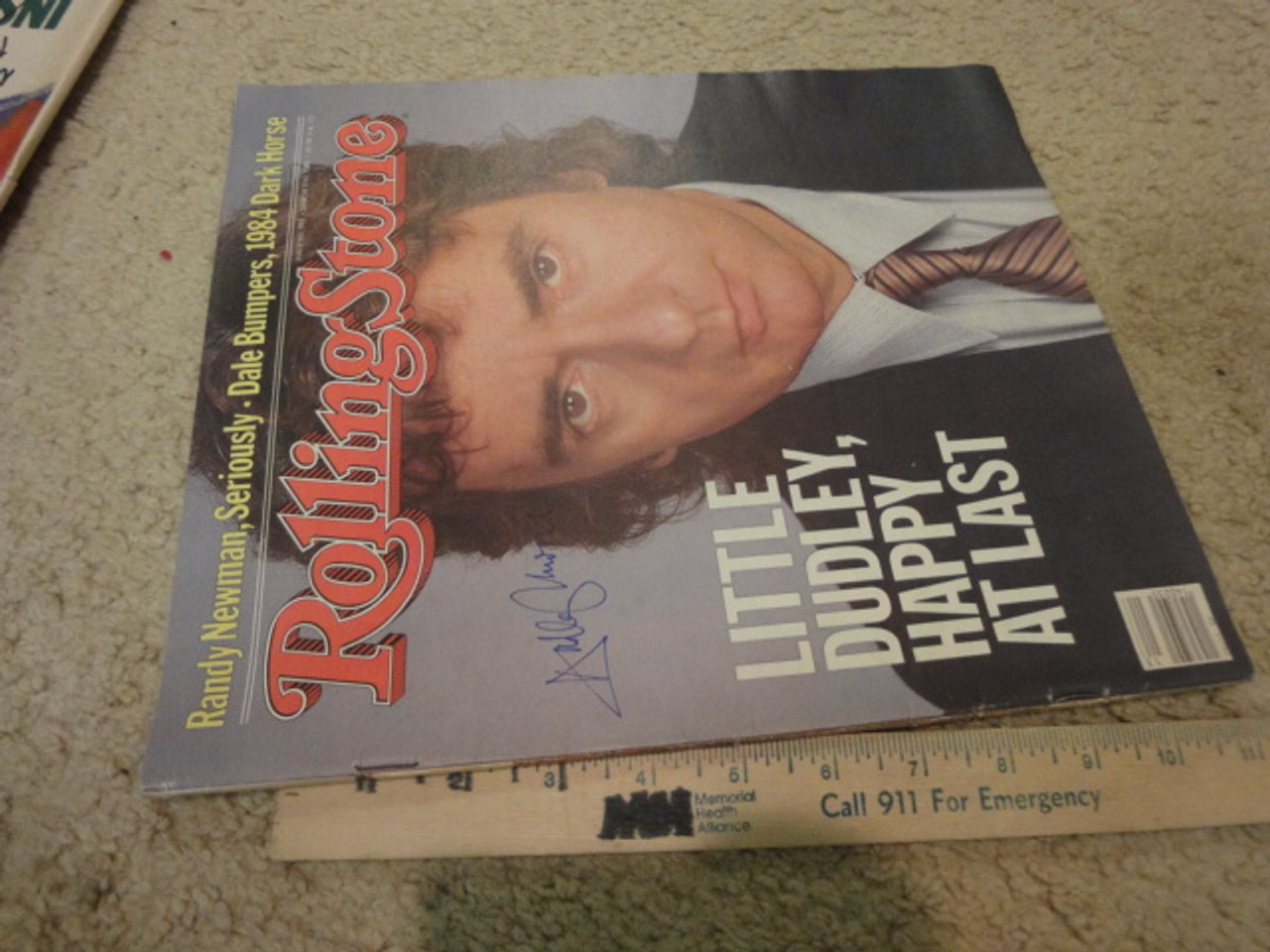 Moore, Dudley Rolling Stone Magazine 1983 Signed Autograph Color Cover Photo