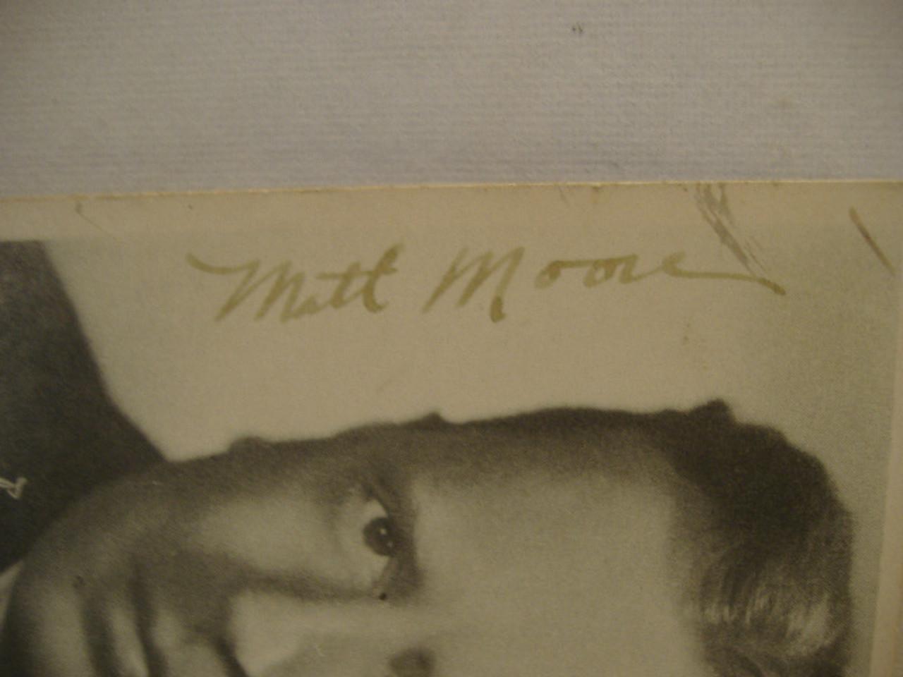 Moore, Matt Matthew Photo Signed Autograph Seven Brides For Seven Brothers