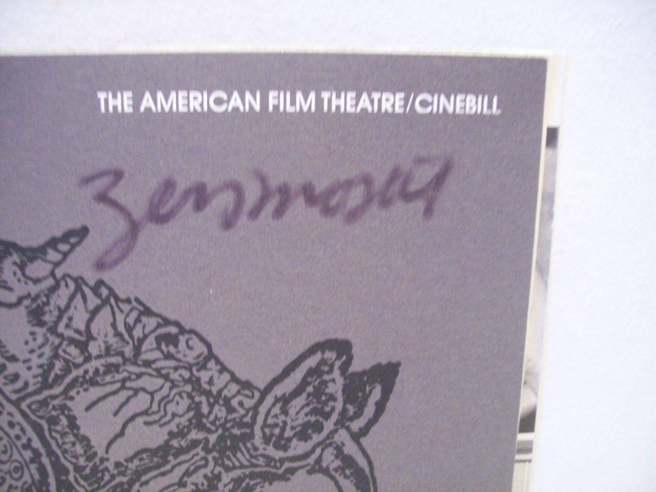 Mostel, Zero Theater Program Signed Autograph Rhinoceros 1974