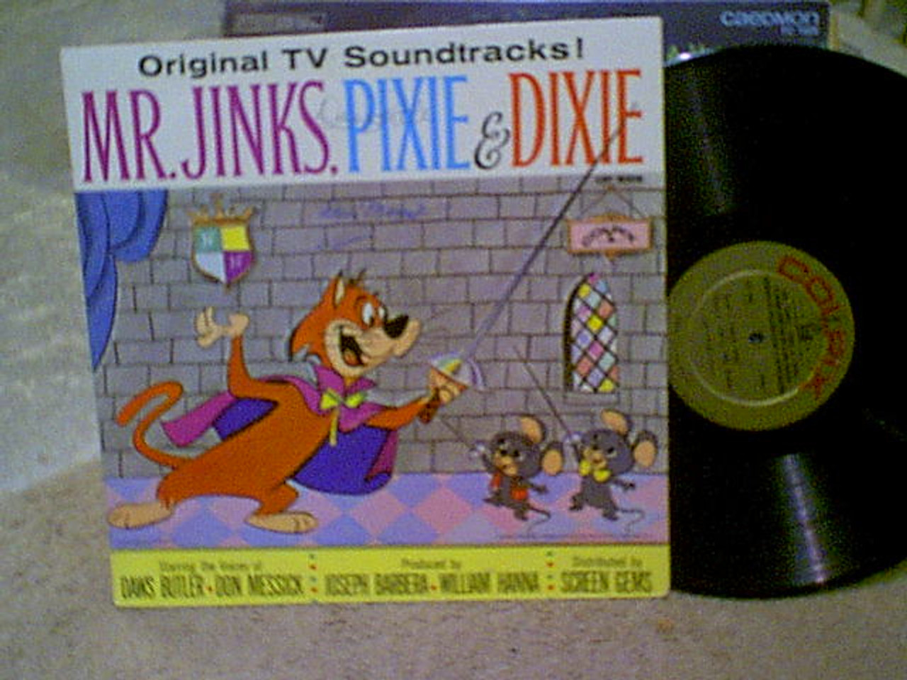 Mr Jinks Pixie And Dixie LP Signed Autograph Daws Butler Don Messick Hanna Barbera