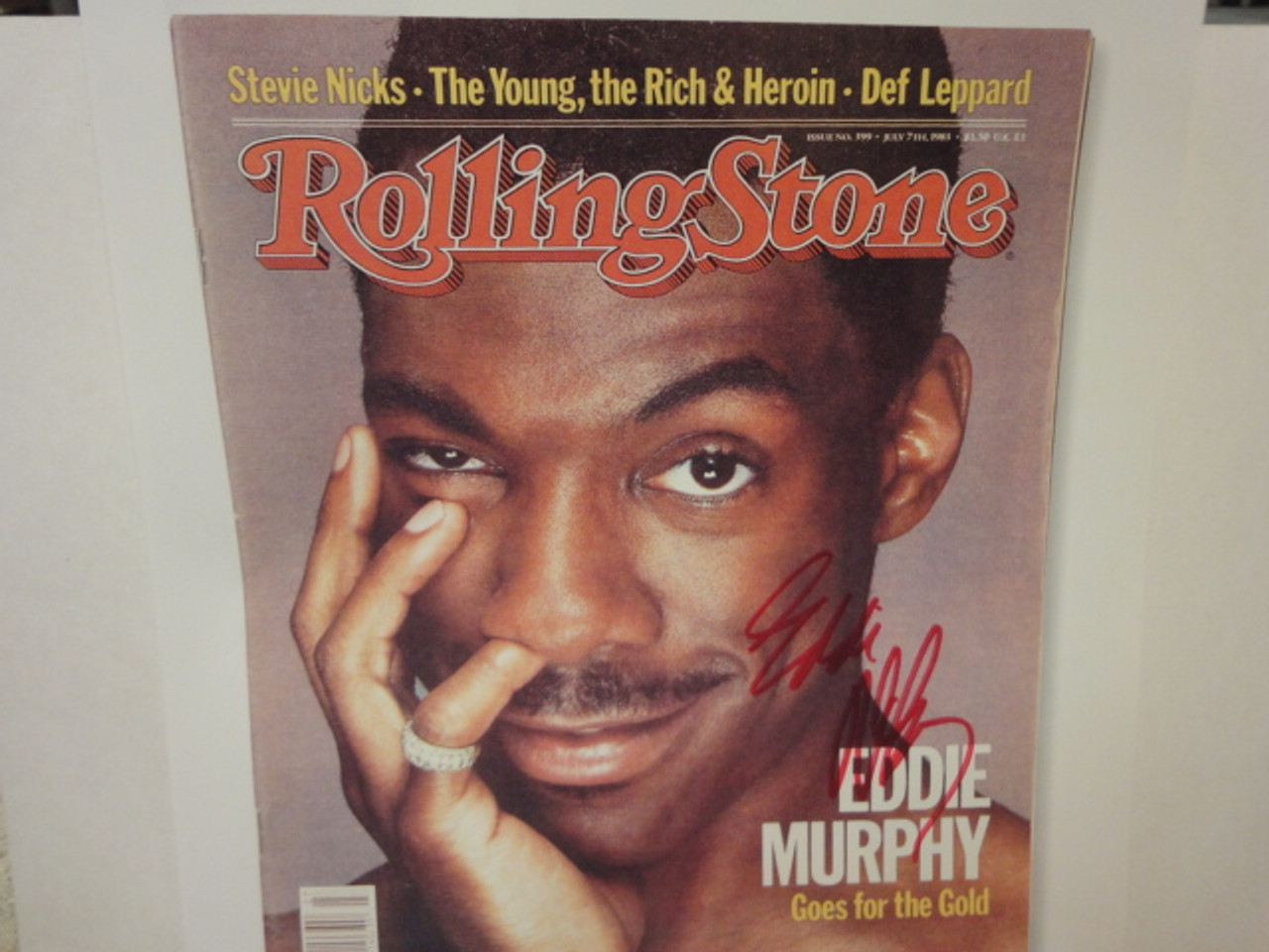 Murphy, Eddie Photo Rolling Stone Magazine Cover Signed Autographed 1983
