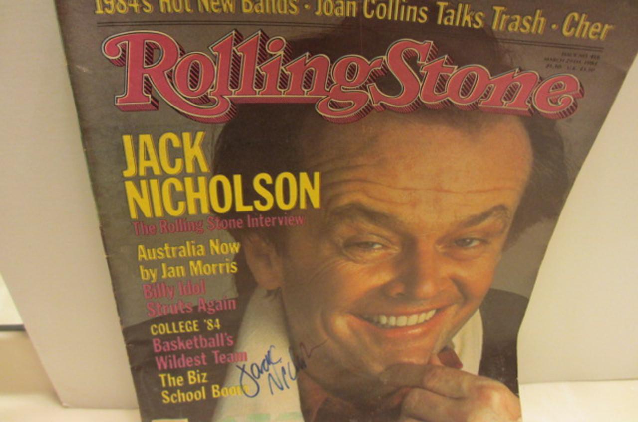 Nicholson, Jack Rolling Stone Magazine Signed Autograph Issue 418 1984