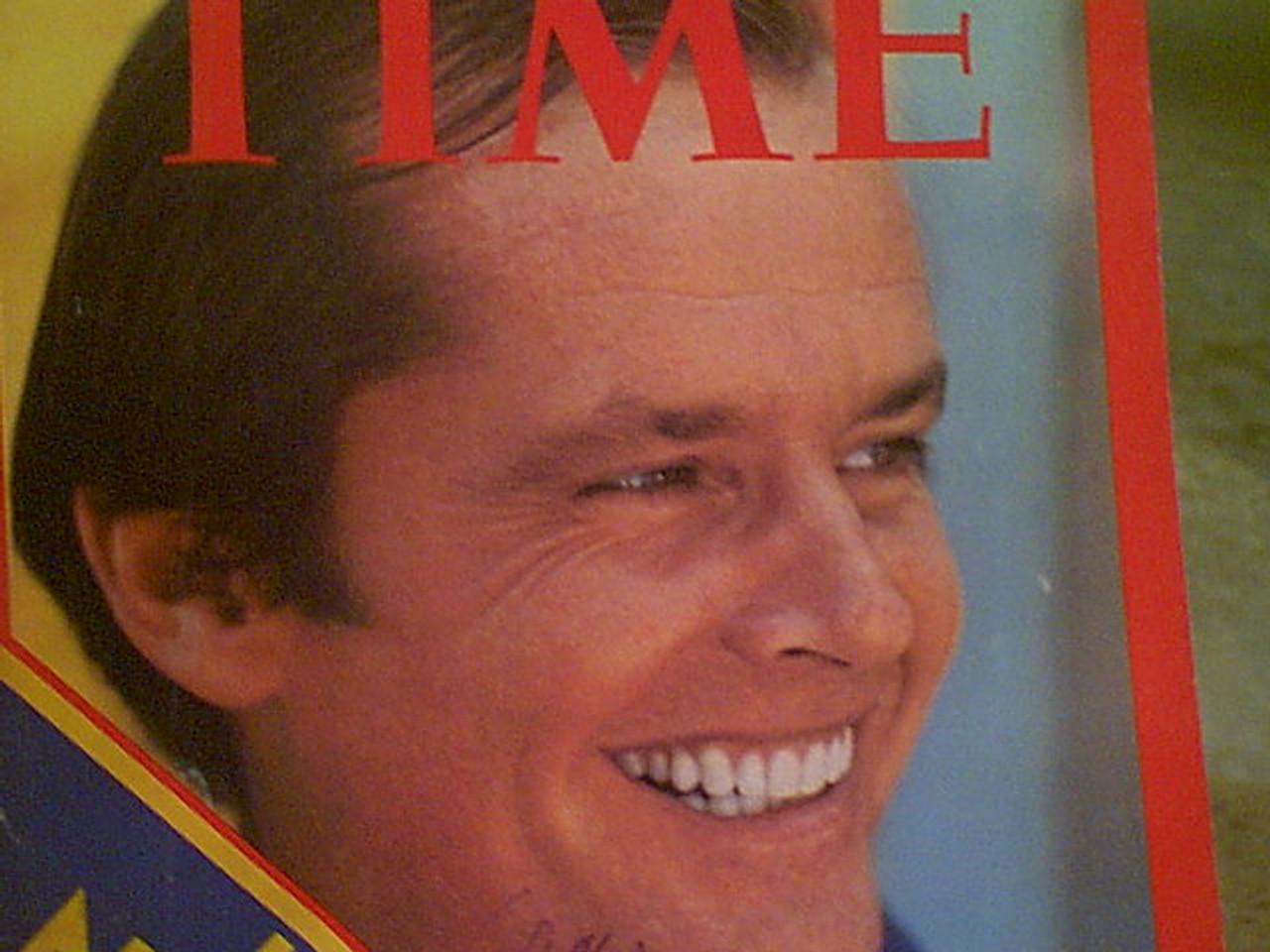 Nicholson, Jack Time Magazine 1974 Signed Autograph Color Cover Photo
