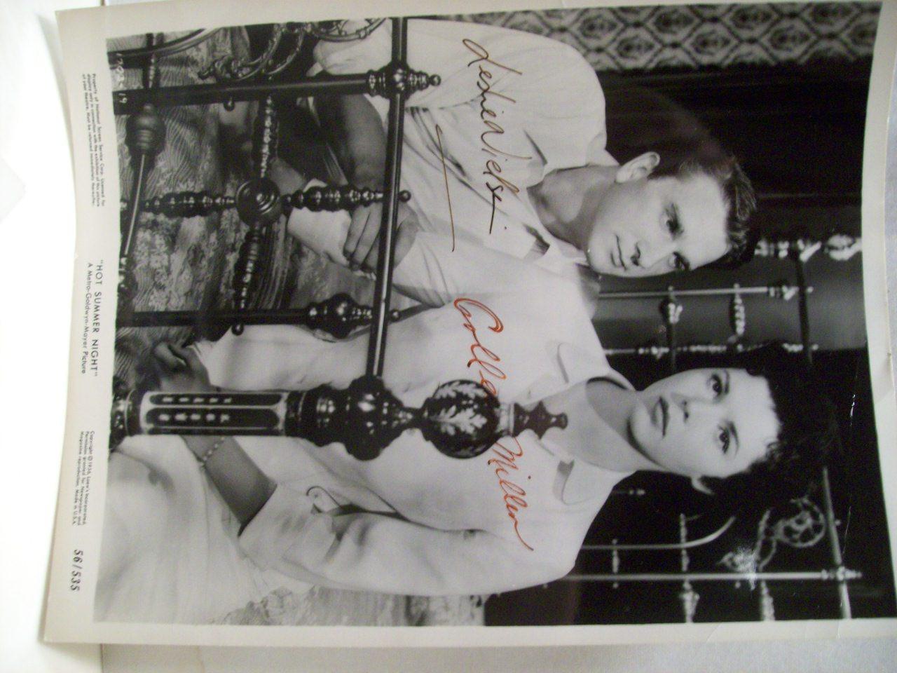 Nielsen, Leslie Colleen Miller Press Kit Signed Autograph Hot Summer Night 1957