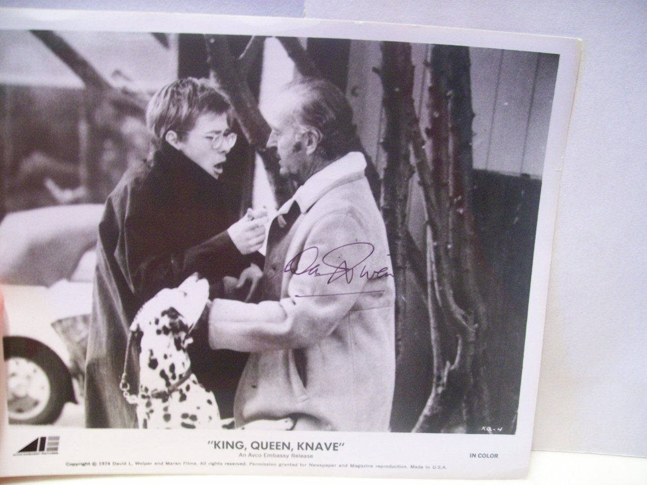 Niven, David Photo Signed Autograph King Queen Knave 1974