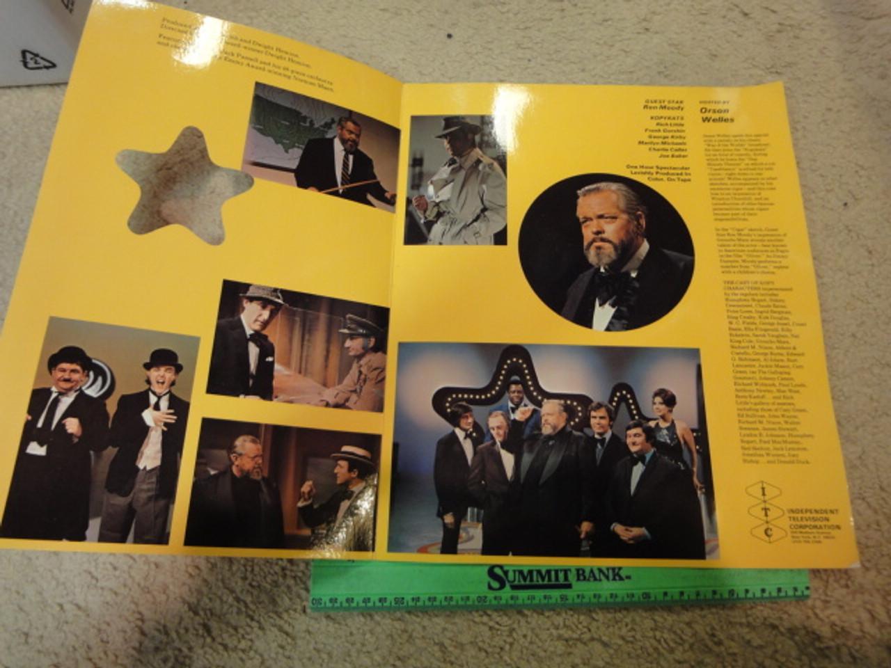 Orson Welles 1972 Kopykats Color Promotional Folder Signed Autograph Photo