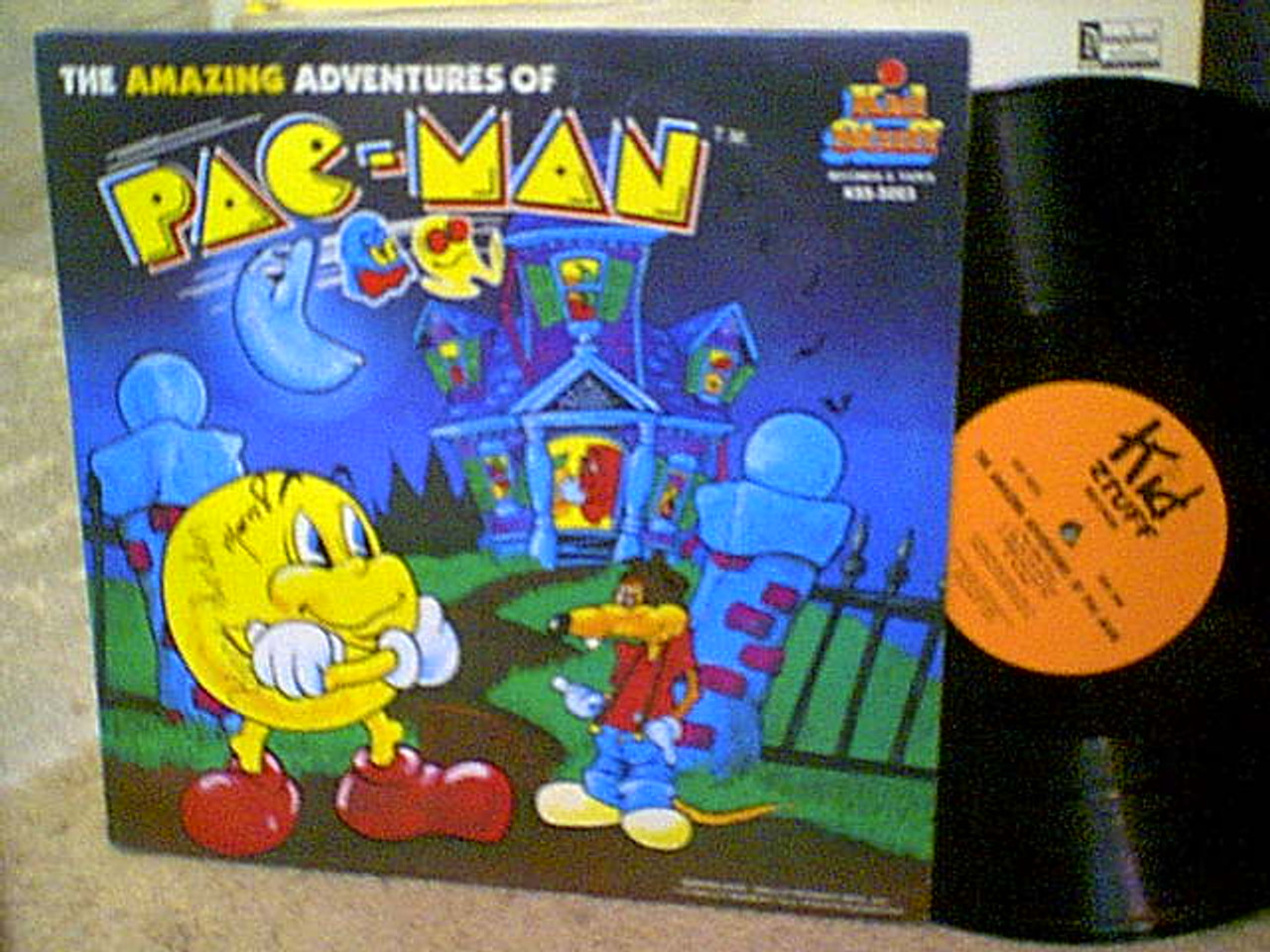 Pac Man LP Gordon, Barry Marty Ingels Signed Autograph The Amazing Adventures Of Pac Man 1980
