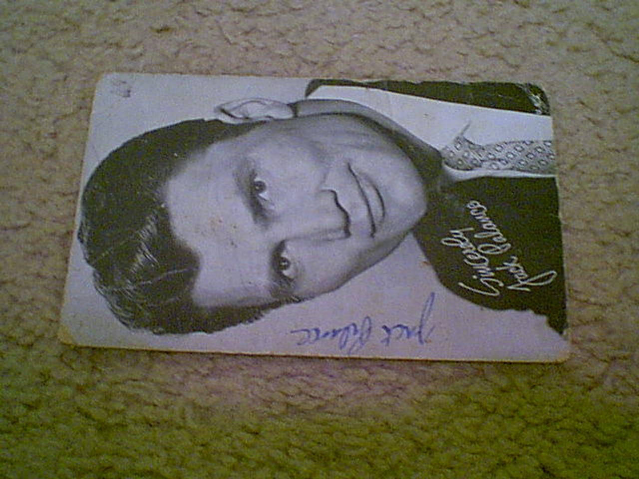 Palance, Jack 1960'S Fan Club Postcard Signed Autograph