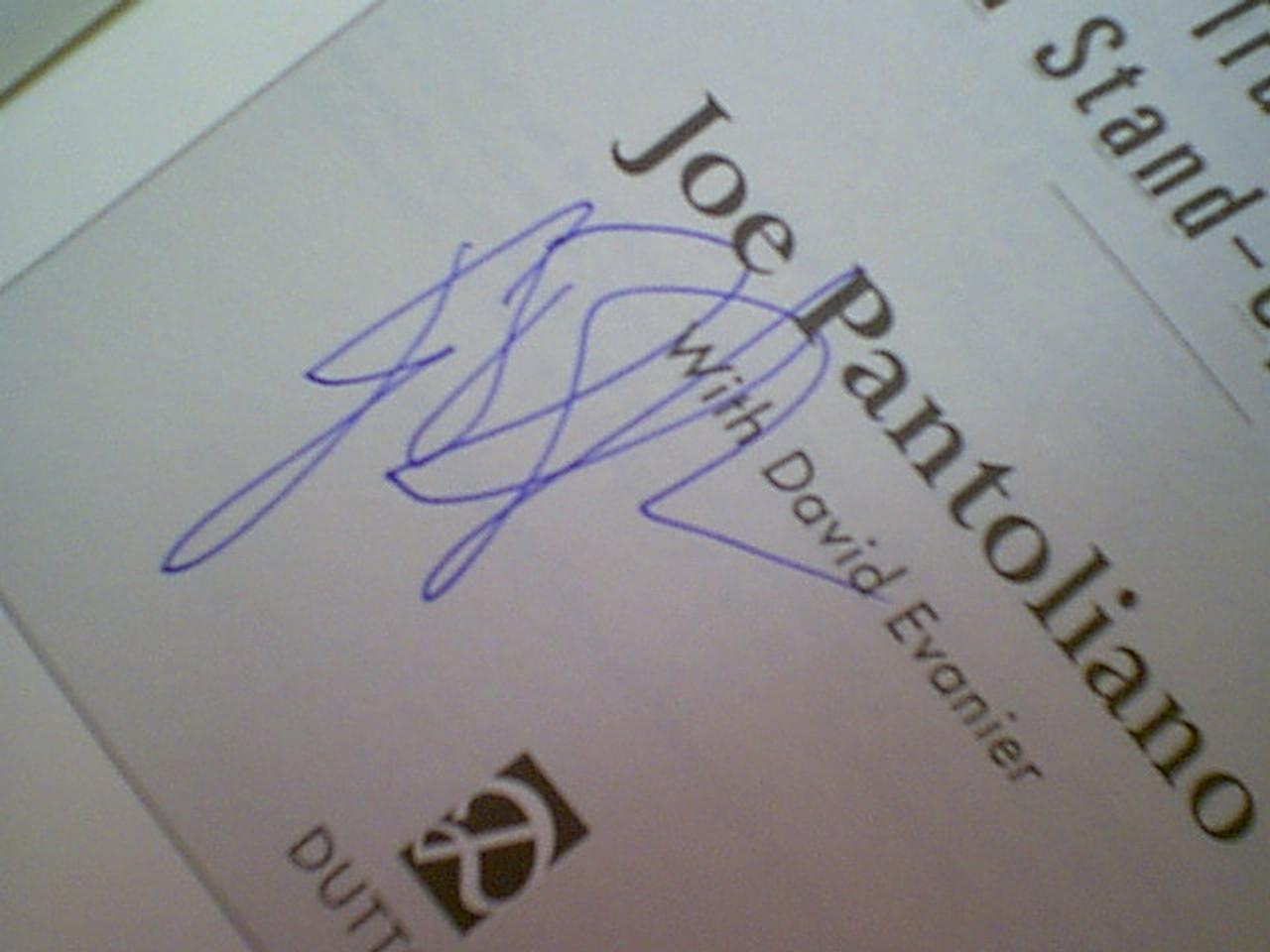 "Pantoliano, Joe ""Who'S Sorry Now"" 2002 Book Signed Autograph Photos"