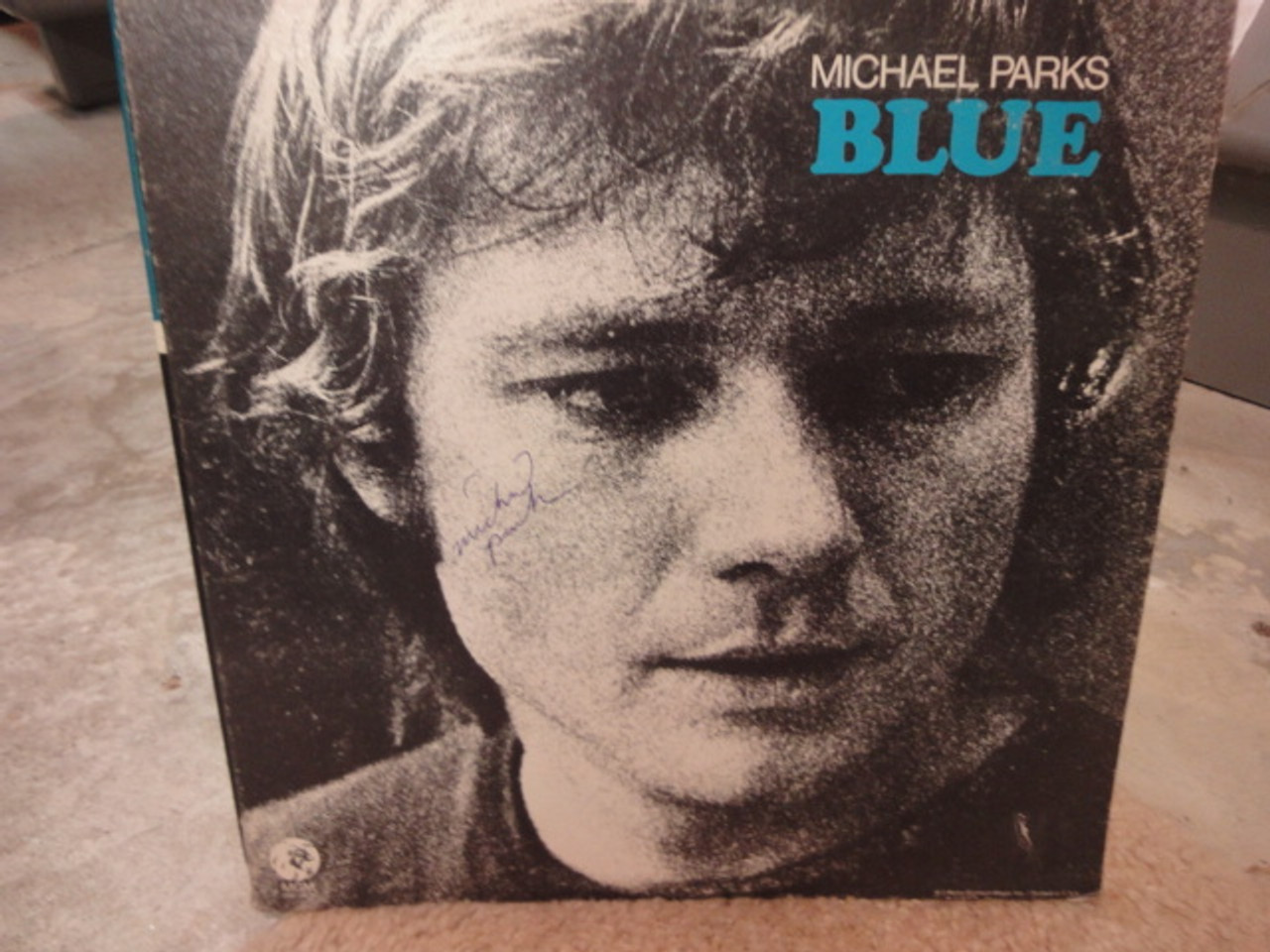 """Parks, Michael """"Blue"""" 1970 LP Signed Autograph """"There's Been A Change In Me"""""""