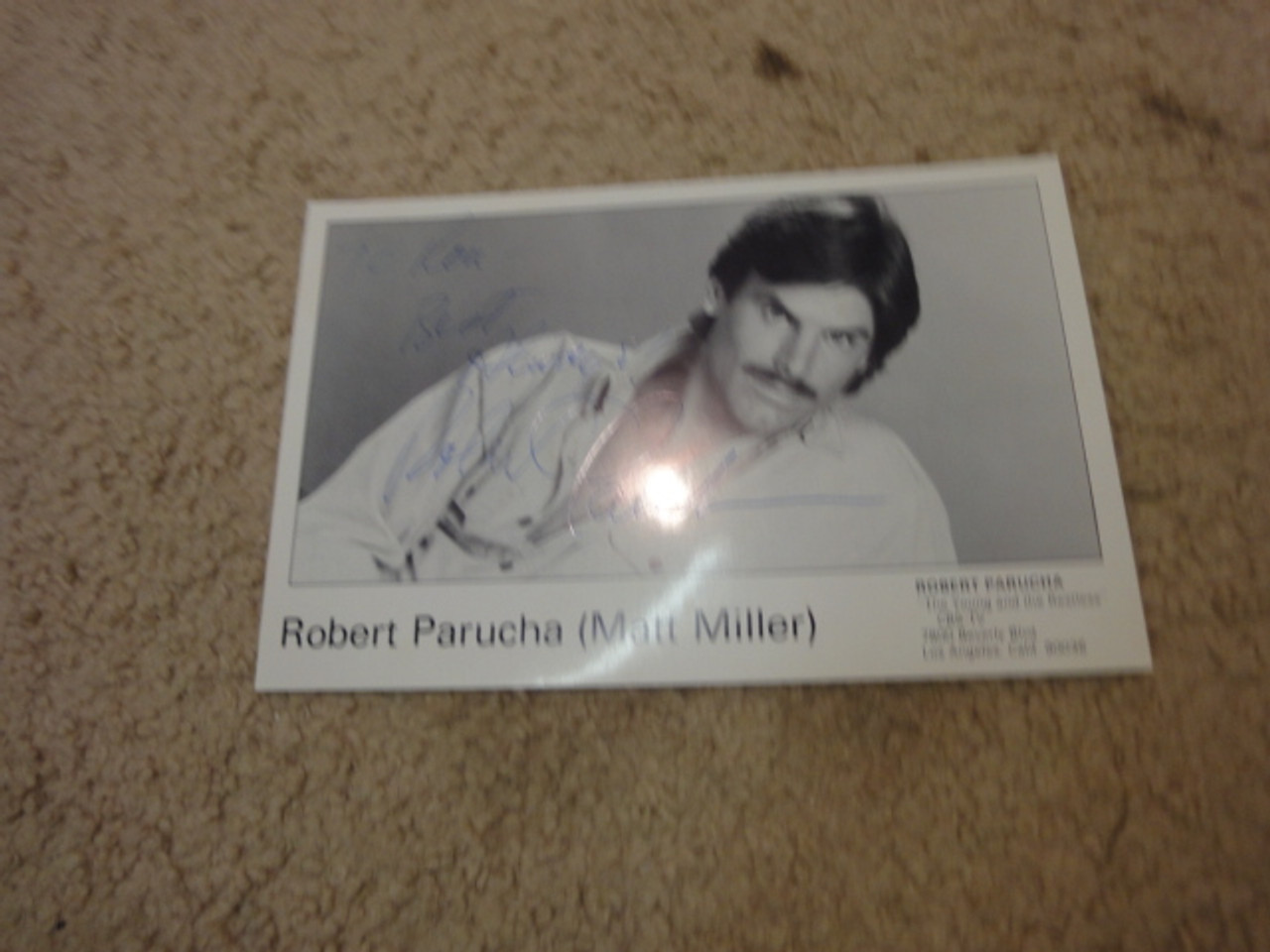 """Parucha, Robert Publicity Photo Signed Autograph """"The Young And The Restless"""""""