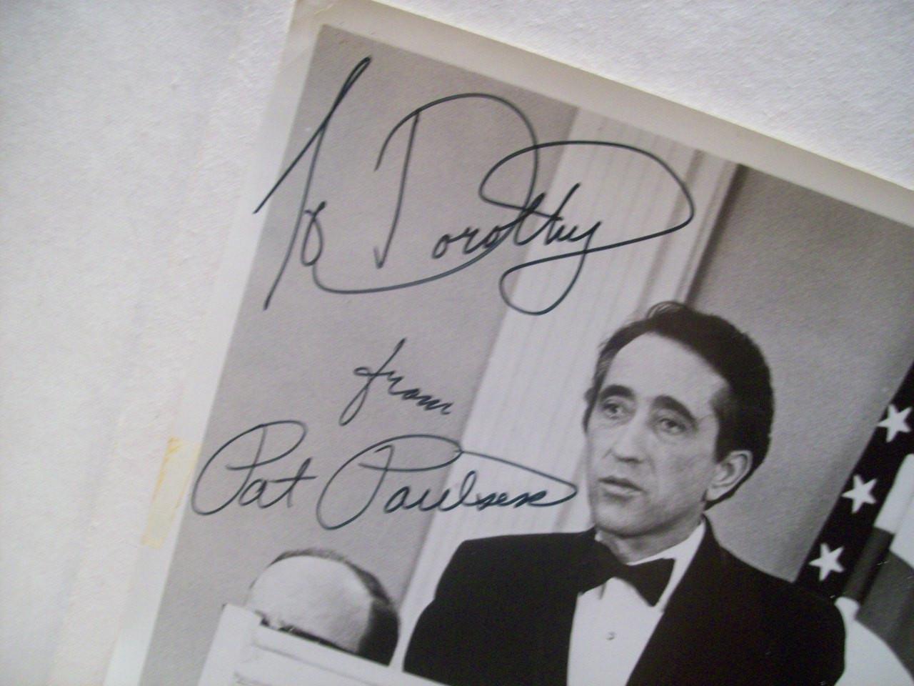 Paulsen, Pat Photo Signed Autograph Pat Paulsen For President Black And White