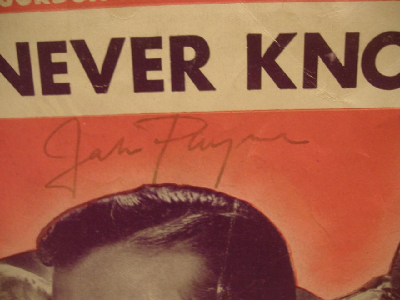 Payne, John Alice Faye Sheet Music Signed Autograph Hello Frisco Hello 1943
