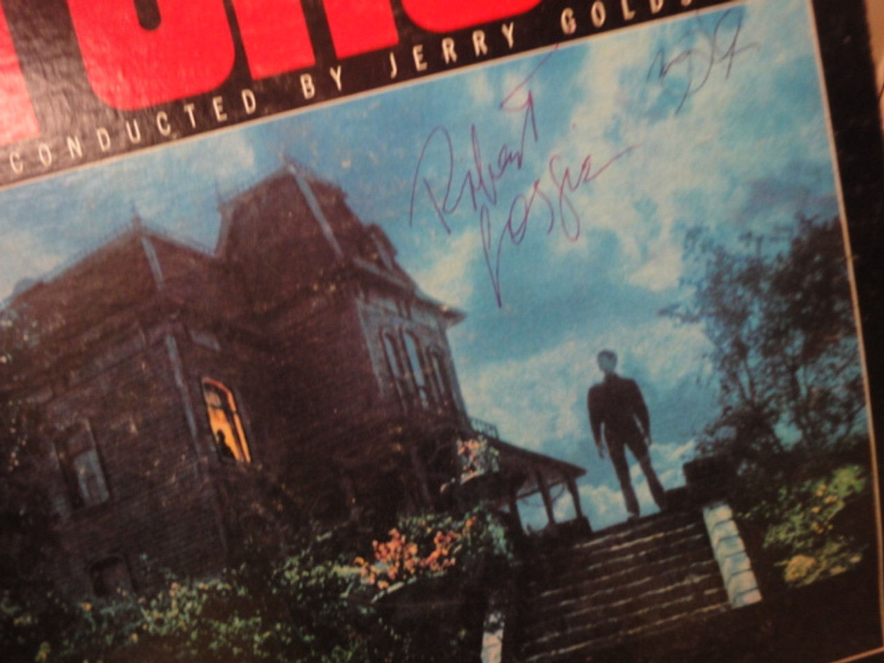 """Perkins, Anthony Tony and Robert Loggia """"Psycho II"""" 1983 LP Signed Autograph"""
